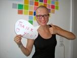Danke für den Support durch die Chemo