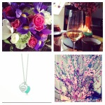 Geburtstag Tiffanys Blumen Champagner