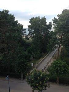 Ausblick beim Yoga auf den Strand in Ahlbeck