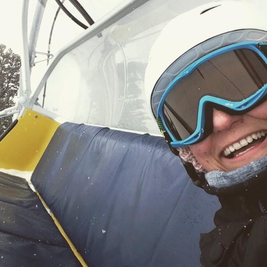 Snowboarden in Reschen