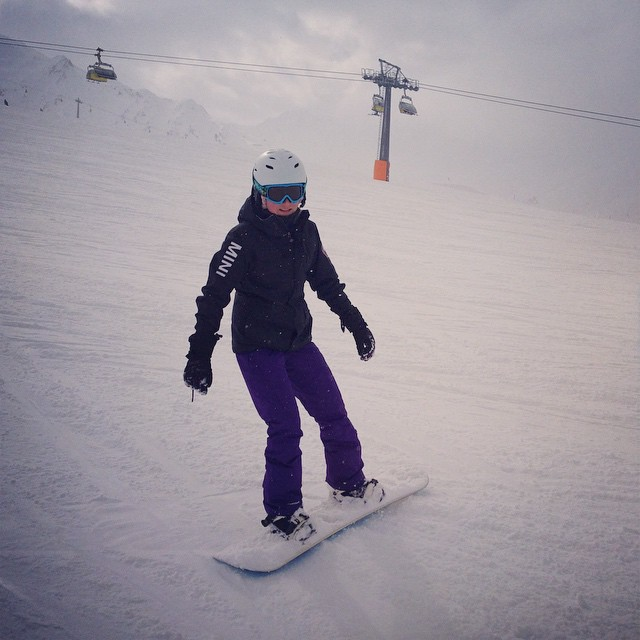 Februar 2014: Snowboarden in Italien