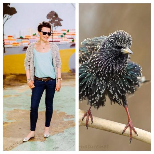 Irgendwie ähnel ich öfter einem Vogel / I seem to be a lookalike of this bird