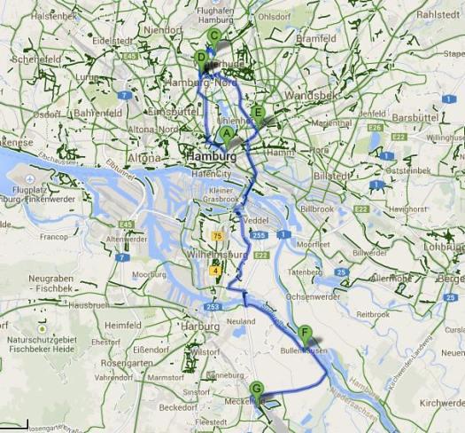 Juni 2014 Hamburg radeln